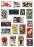 Collage för USA 60-talstämpel Royaltyfria Foton