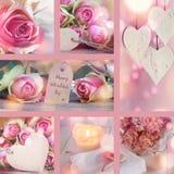 Collage für glücklichen Valentinsgruß-Tag Lizenzfreies Stockfoto