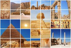 Collage fabuloso de Egipto Imagen de archivo