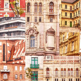 Collage of Facades from Budapest Royalty Free Stock Image