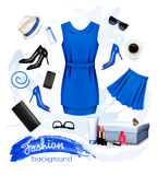 Collage of fashion female accessories. Royalty Free Stock Photos