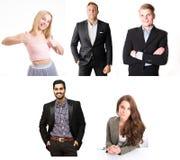 Collage feliz de la gente imagen de archivo