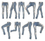 Collage of female jeans Stock Images