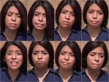Collage femelle de tristesse et de dépression photo libre de droits