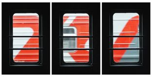 Collage ferroviario del ` s Fotografia Stock