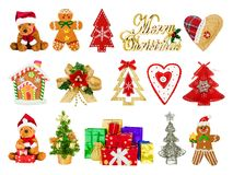 Collage of festive Christmas symbols Stock Images