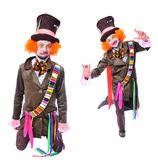 Collage of few pictures. Mad hatter`s different facial emotions. Royalty Free Stock Photography