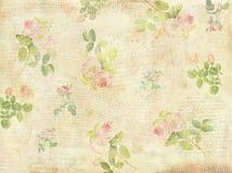 Collage floral del fondo de las llaves de las letras del vintage Imagenes de archivo