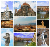collage florence Arkivfoton