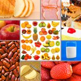 Collage of food images Stock Photography