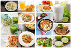 Collage of food Stock Image