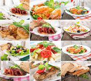 Collage food Stock Photos