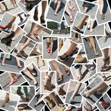 Collage about foot. Stock Image