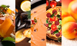 Collage form photos of natural food Royalty Free Stock Images