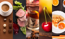 Collage form photos of natural food Royalty Free Stock Image