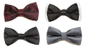 Collage of four bow tie  on a white background Stock Photo