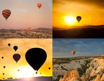 Collage of four images of  balloons. Royalty Free Stock Photography