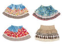 Collage of four miniskirt Royalty Free Stock Image