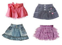 Collage of four skirts Stock Photography