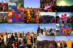 Collage från botkonserten i Chile Royaltyfri Foto