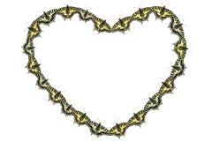 Collage från fjärilar vid St-valentin dag royaltyfri bild