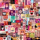 Collage för grafisk design Royaltyfria Bilder