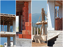 Collage för konstruktionsplats Royaltyfri Bild
