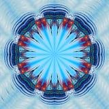 collage fractal Den centrala fyrkanten i Moskva Arkivbilder