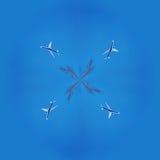 collage fractal Het vliegtuig in de hemel Royalty-vrije Stock Fotografie