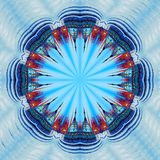 collage fractal Il quadrato centrale a Mosca Immagini Stock