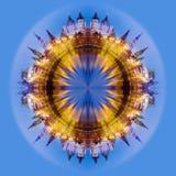 collage fractal moscow izmailovo kremlin moscow Royaltyfria Foton