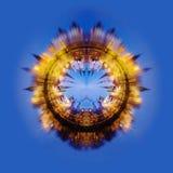 collage fractal moscow izmailovo kremlin moscow Royaltyfria Bilder