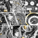 Collage from fragments motorcycles Royalty Free Stock Image
