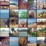 Collage from fragments of the photos made in India. Royalty Free Stock Photography