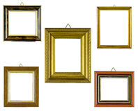 Collage frames. Collage picture frames on a white background Royalty Free Stock Image