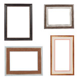Collage of frames isolated on white. Stock Photography