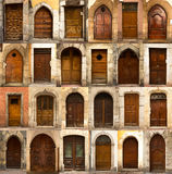 Collage of french wooden doors Royalty Free Stock Photography
