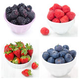 Collage with fresh berries Royalty Free Stock Image