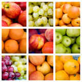 Collage of fresh fruit Royalty Free Stock Images