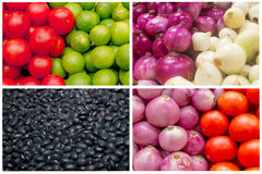 Collage from fresh fruit and vegetables Royalty Free Stock Photography