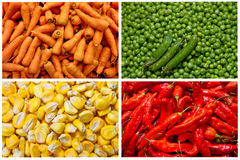 Collage from fresh fruit and vegetables Royalty Free Stock Image