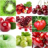 Collage of fresh fruits Royalty Free Stock Photo