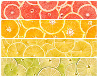 Collage Of Fresh Summer Fruits Royalty Free Stock Images