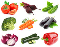 Collage from fresh vegetables Stock Images