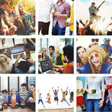 Collage Friendship Bonding Memories Happiness People Concept Royalty Free Stock Photography