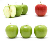 Collage From Apples Stock Photo