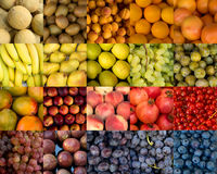 Collage of fruits varitety Stock Photo