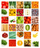 Collage of fruits and vegetables royalty free stock photography