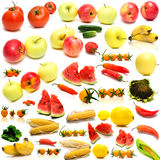 Collage from fruits and vegetables 2 Royalty Free Stock Photography