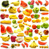 Collage from fruits and vegetables 3. Collage from fruits and vegetables on a white background. Isolation Stock Photos
